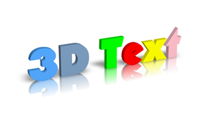 3D text in photoshop