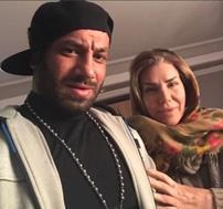امیر تتلو به همراه مادرش