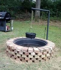 آموزش ساخت منقل و آتشدان در باغ
