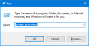 Open Folder Options from Run or Command Prompt