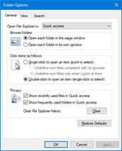 باز کردن Folder Options